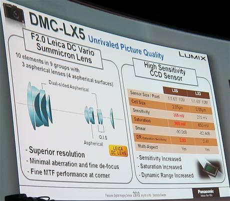 Nový objektiv a čip fotoaparátu Panasonic Lumix LX5