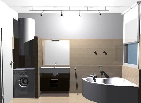 Koupelna pro manžele v důchodovém věku ve třech variantách
