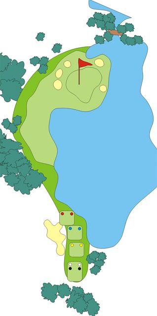 Golfové hřiště Austerlitz, jamka č. 17.
