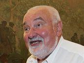 Starosta Moravského Krumlova Jaroslav Mokrý v expozici Slovanská epopej.