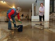 Přívalové deště zaplavily v noci na sobotu suterén brněnského Anthroposu. Voda vytopila strojovnu, výstavní sál i kanceláře