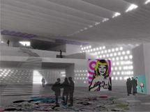 Vizualizace: interier Centra současného umění a designu
