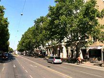 Vídeňská ulice Praterstrasse.