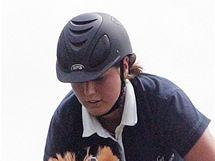 Jezdecký klub Panská lícha - jezdkyně Eliška Opravilová.