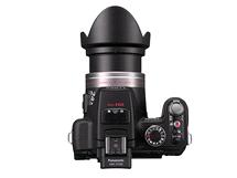 Horní část fotoaparátu Panasonic Lumix FZ100