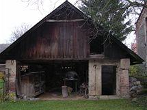 Původní vzhled kůlny, ze které se stala terasa