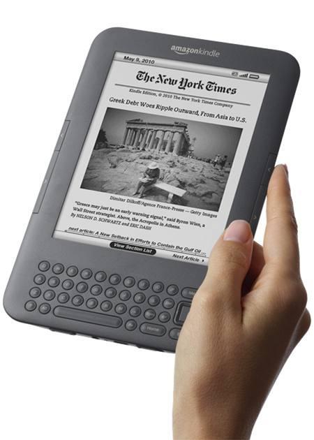 Třetí verze čtečky elektronických knih Kindle