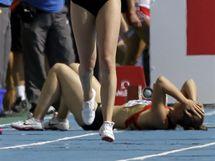 Německá ženská štafeta na 4x100 m nezvládla poslední předávku a do finále nepostoupila.