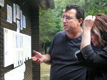 Ministerstvo školství kontroluje dětský tábor. (Mlýnky u Strážnice, 27.7. 2010)