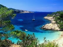Ibiza, pláž Cala Salada