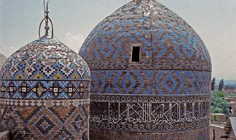 Iránské muslimské stavby ve městě Ardabil