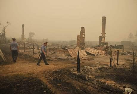 Šíření požárů se Rusům nedaří zastavit (3. srpna 2010)