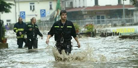 Velká voda potrápila Hřensko