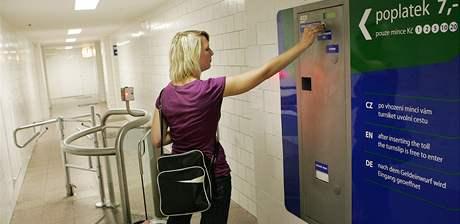 Veřejné toalety na Hlavním nádraží v Brně.