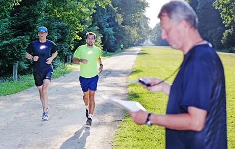 Trénink na maraton v oboře Hvězda - rozřazovací závod
