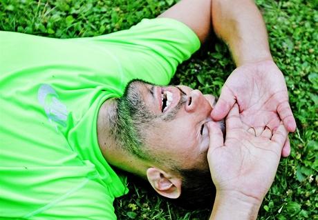 Trénink na maraton v oboře Hvězda - vyčerpání po běhu na 20 km