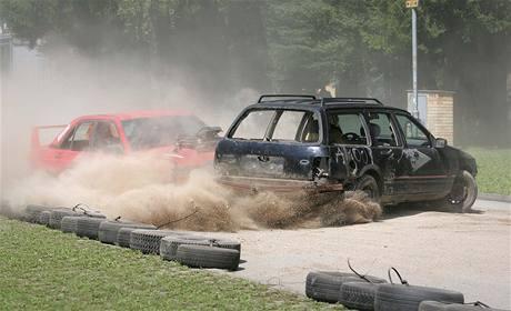 Demoliční derby na českobudějovickém výstavišti