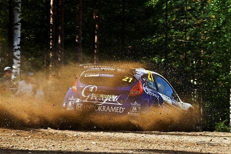 Finská rally. Posádka Prokop - Tománek
