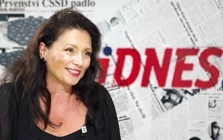 Jana Bobošíková při rozhovoru s Barborou Tachecí.