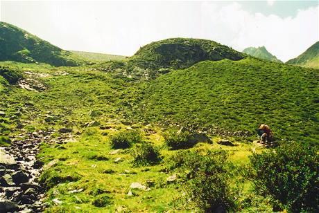 Alpská stezka od jezera zpět do Kühtai