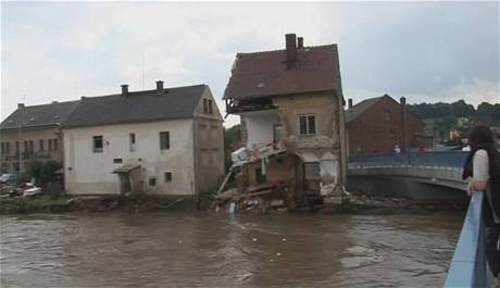 Hrádek na Nisou následky povodně
