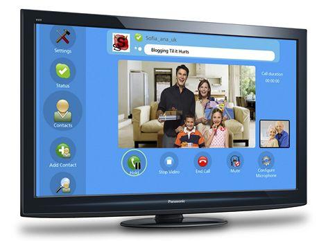 Skype na televizích Panasonic