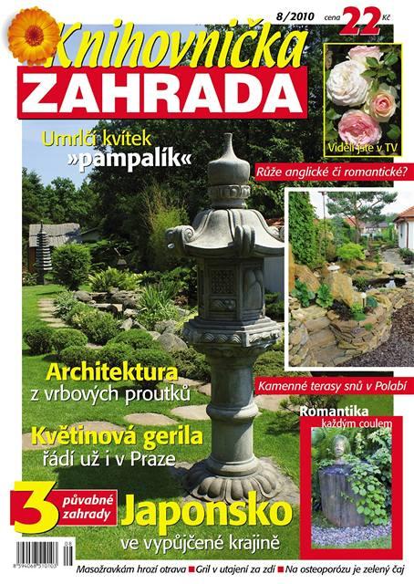 Titulní strana srpnového čísla časopisu Knihovnička Zahrada