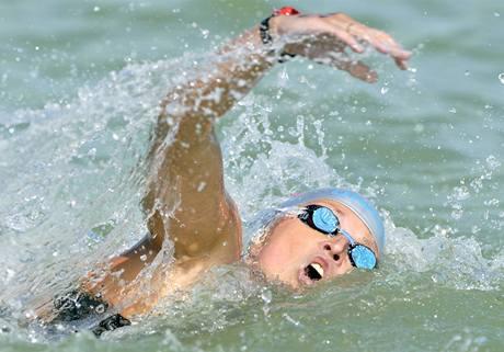 Ruská plavkyně Jekatěrina Selivěrstovová, mistryně Evropy na pět kilometrů.