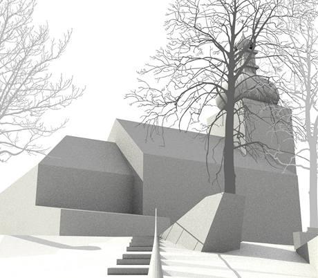 Vizualizace: schodiště ke kostelu sv. Václava v Dukovanech