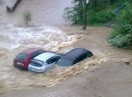 Záplavy v okolí Hrádku nad Nisou