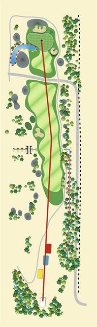 Golfové hřiště Old Course v Čeladné, jamka č. 8 - nákres.