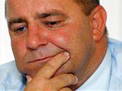 Radek Vovsík na mimořádné tiskové konferenci v Jihlavě přiznal, že lhal a oznámil, že rezignuje na post náměstka primátora (6. srpen 2010)
