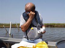 Likvidace ropné katastrofy v Mexickém zálivu.