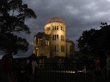 Atomový dóm v Hirošimě (5. srpna 2010)
