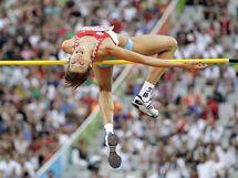 Chorvatka Blanka Vlašičová v závodě výškařek na atletickém ME v Barceloně.