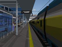Vizualizace nového nádraží v Brně