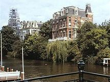 Síť nizozemských kanálů Singlegracht v Amsterodamu