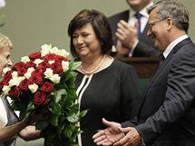 Bronislaw Komorowski se ujal úřadu polského prezidenta (6. srpna 2010)