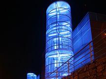 Noční osvětlení Univerzitního kampusu v brněnských Bohunicích