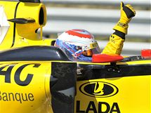 Ruský závodník Petov (Renault) dokončil Velkou cenu Maďarska na výborném pátém místě.
