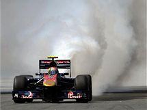 Pro španělského pilota Jaimeho Alguersuariho (Toro Rosso) končila Velká cena Maďarska už v prvním kole.