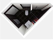 Vizualizace - koupelna pro hosty