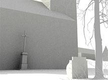 Vizualizace: kostel sv. Václava v Dukovanech