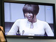 Modelka Naomi Campbellová vypovídá u soudu v Haagu