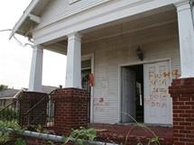 Opuštěný dům v Lower Ninth Ward