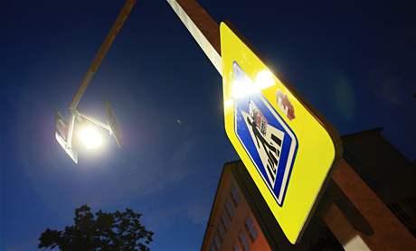 Osvětlení přechodu pro chodce v Blansku