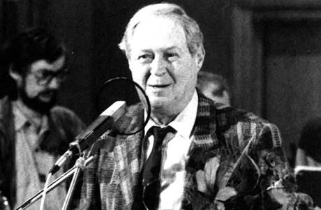 Gustav Brom slaví sedmdesátku v brněnském rozhlasu 22. května 1991