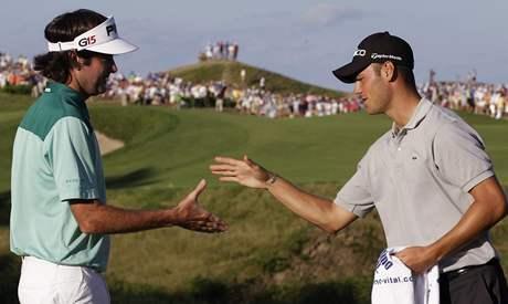 Finalisté PGA Championship 2010 Bubba Watson (vlevo) a Martin Kaymer.