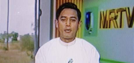 Hlasatel ve státní barmské televizi oznamuje, že se volby uskuteční 7. listopadu