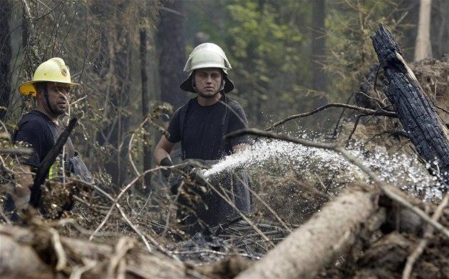 Za moskvou hoří černobylem zamořené lesy, nebezpečí podle rusů